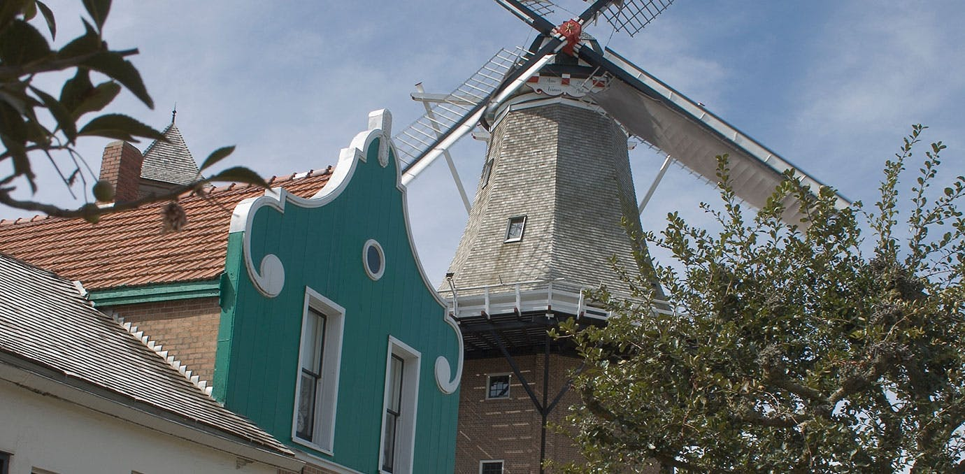 Historic windmill in Pella  Iowa