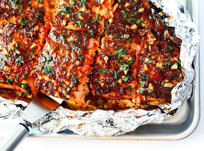 Honey Mustard Salmon In Foil Recipe 6 11