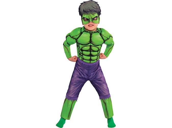 Incredible Hulk superhero Halloween costume for kids