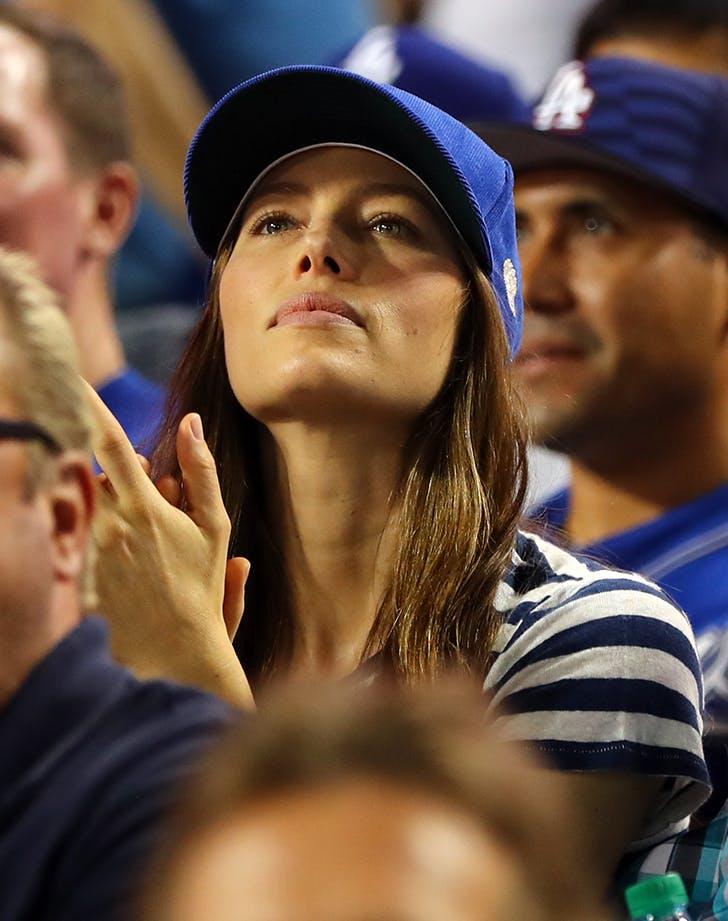 Jessica Biel game 2 World Series