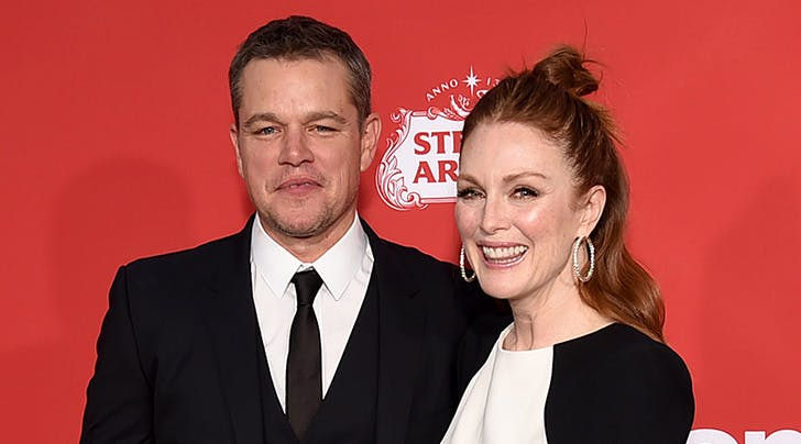Matt Damon & Julianne Moores 'Suburbicon Intimacy Scene Resulted in a Bruised Butt