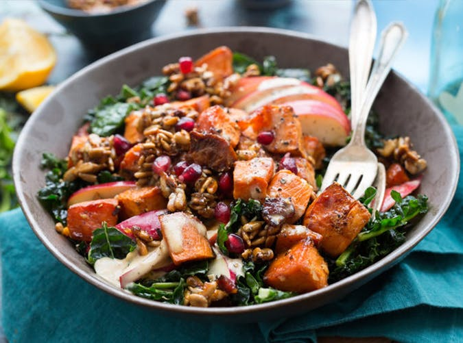 Kale and Sweet Potato Bliss Bowl november meal ideas