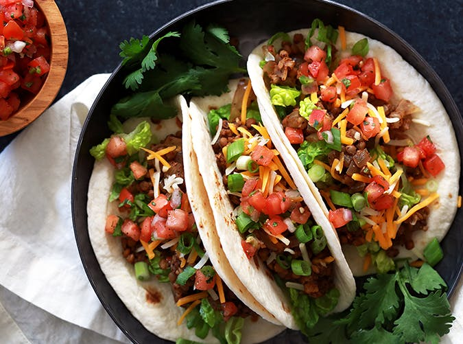 Lentil and Brown Rice Tacos