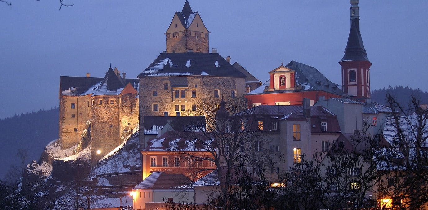 Loket in Czech Republic in winter