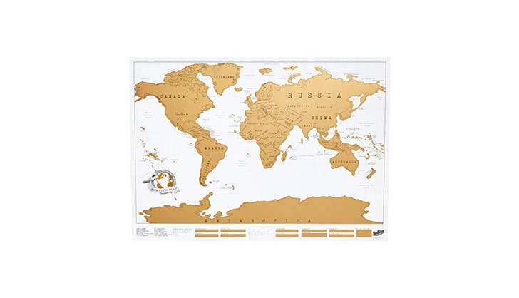 Luckies of London Scratch Off World map