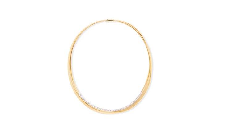 Marco Bicego 18k Three Strand Diamond Necklace