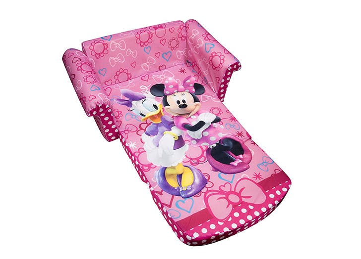 Marshmallow Furniture Childrens 2 in 1 Flip Open Foam Sofa Disney Minnie Bow tique Amazon toy