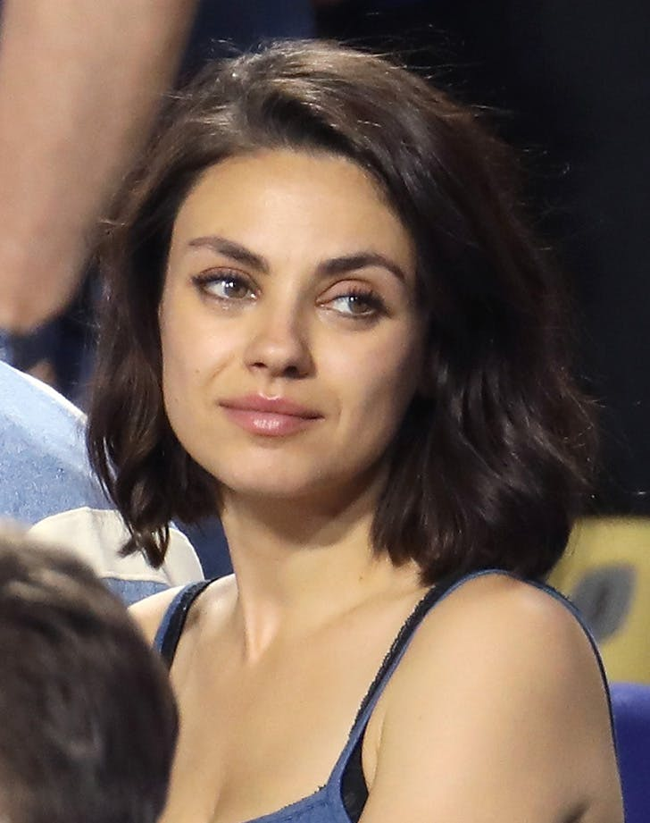 Mila Kunis game 2 World Series