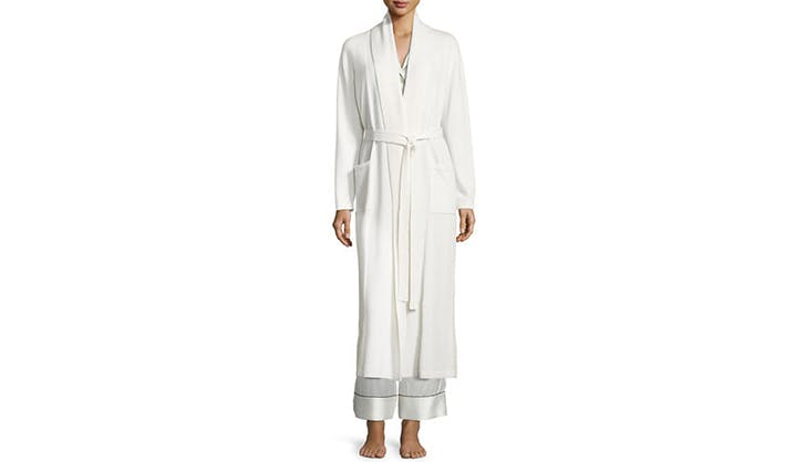 Neiman Marcus Cashmere Collection Classic Long Robe