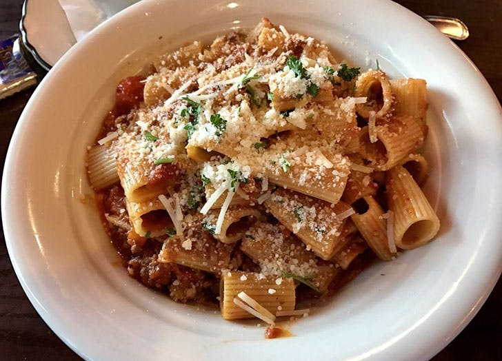 New Jersey  Tops Diner pasta dish