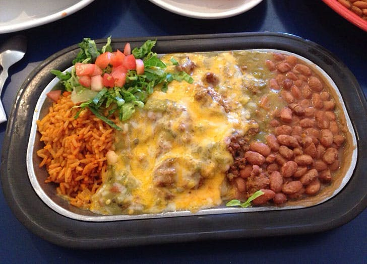 New Mexico Pantry Restaurant rice and beans