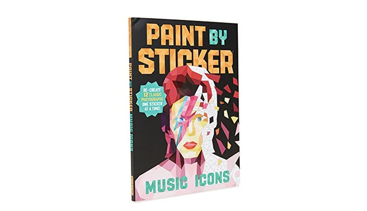 Paint By Stickers Music Icons Book