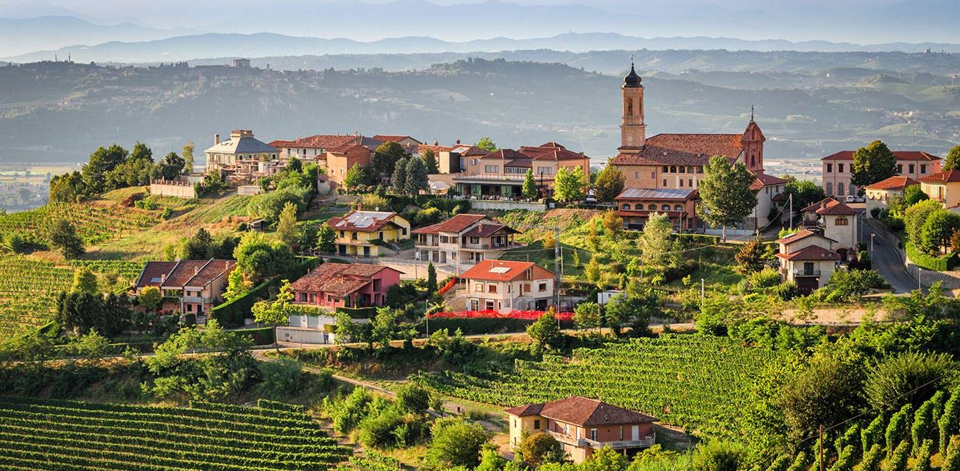 Piedmont wine region in Italy