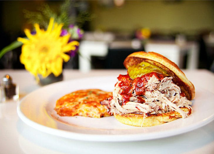 Pork sandwich Ricos World Kitchen in Georgia