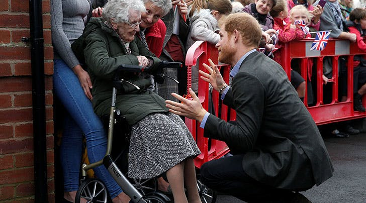 Prince Harry Reunites with 99-Year-Old Winnie, Proves Yet Again Hes a Total Dreamboat