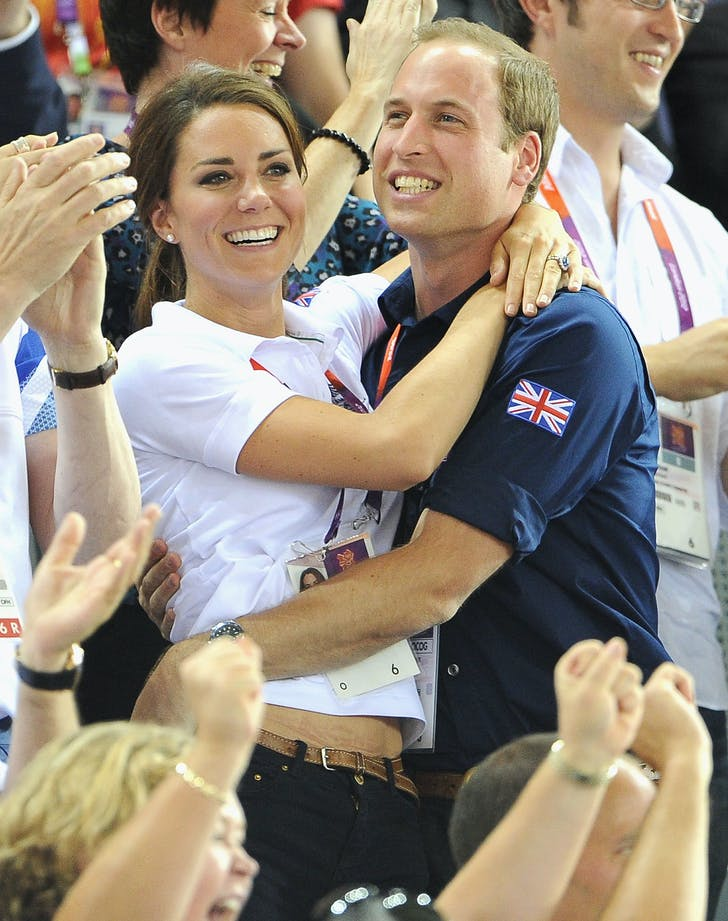 Prince William Kate Middleton hugging