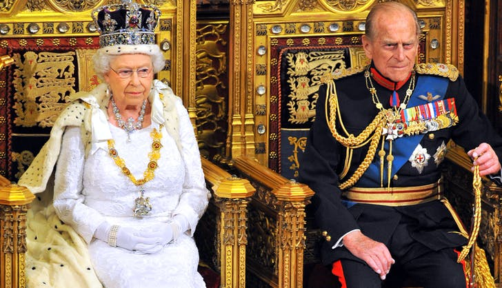 Queen Elizabeth II Prince Philip throne