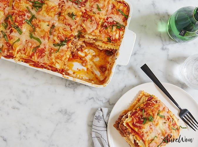 Ravioli Lasagna november meal ideas