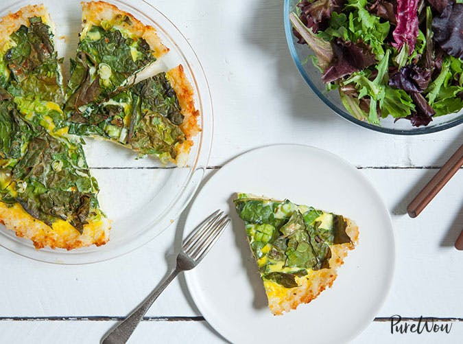Rice Crust Kale Quiche