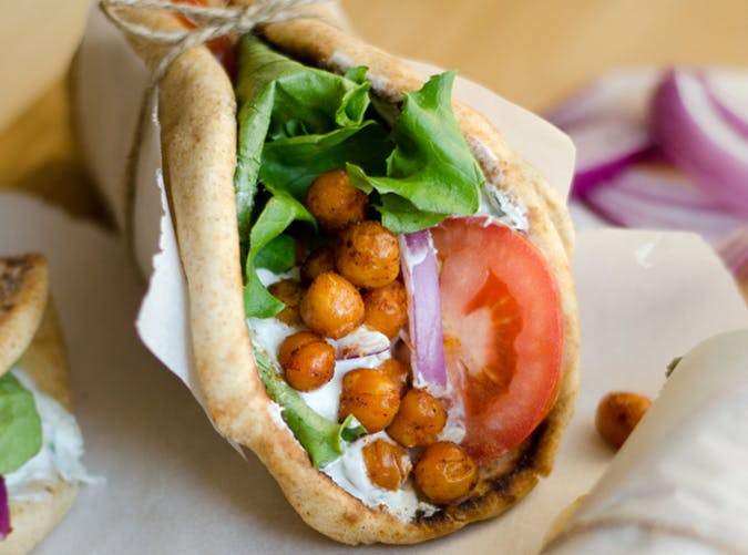 Roasted Chickpea Gyros mediterranean diet meals