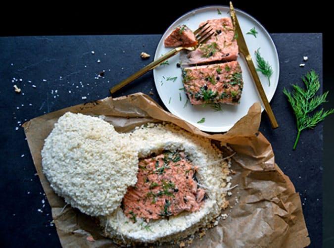 Salt Baked Salmon recipe