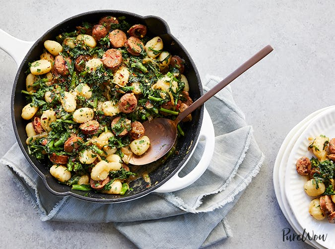 Skillet Gnocchi with Sausage and Broccoli Rabe november meal ideas