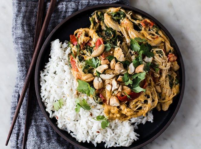 Slow Cooker Pumpkin Chicken Curry november meal ideas