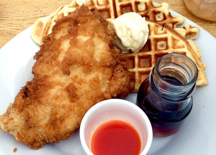 South Carolina Iron Dog Diner chicken and waffles
