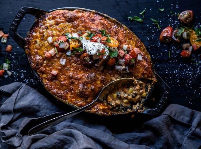 Stacked Coho Salmon Enchilada