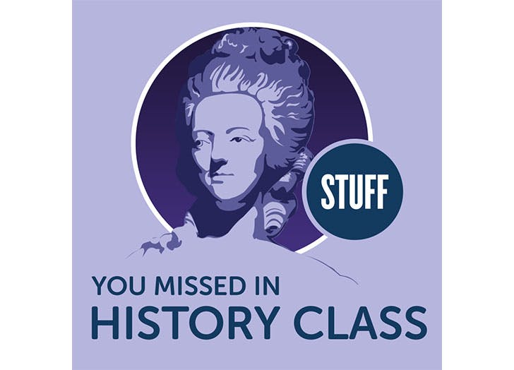 Stuff You Missed in History Class podcast logo for teens