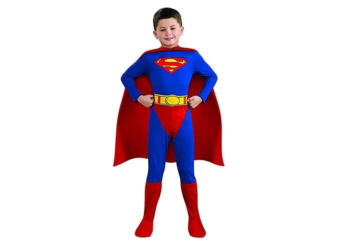 Superman Halloween superhero costume for young boy