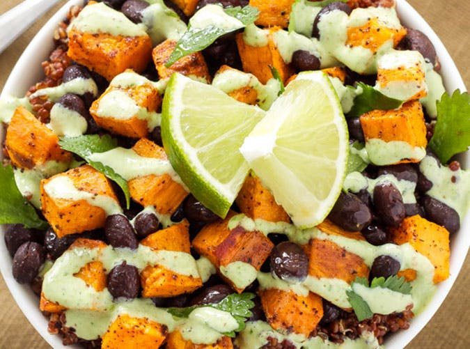 Sweet Potato and Black Bean Quinoa Bowls1