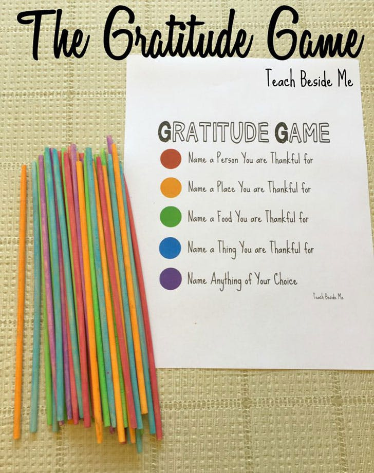 The Gratitude Game for Thanksgiving