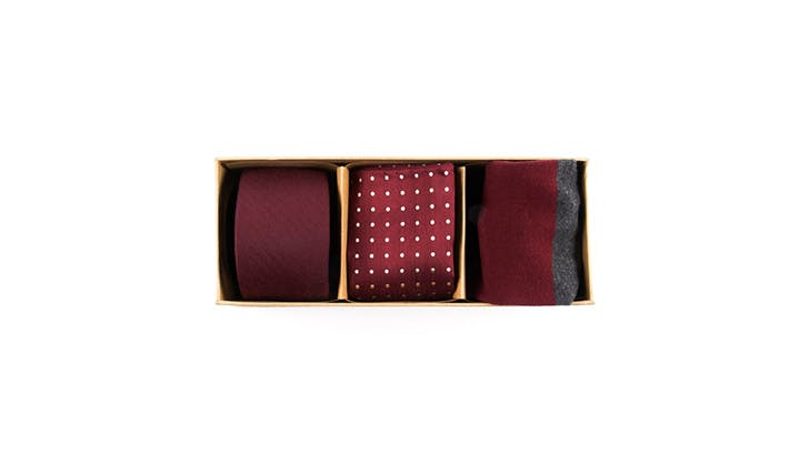 The Tie Bar burgundy set