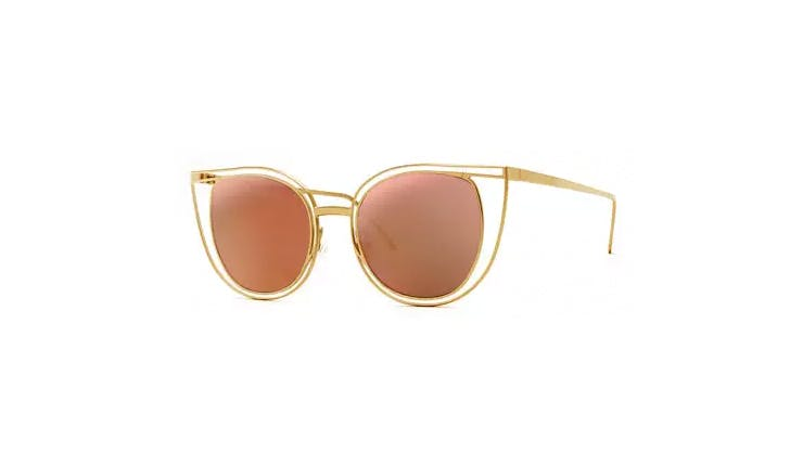 Thierry Lasry Eventually Metal Cat Eye Sunglasses