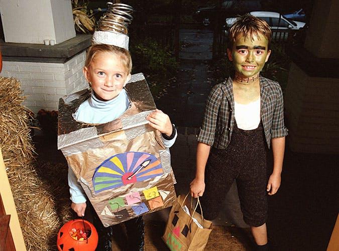 Time machine or Frankenstein Halloween costume