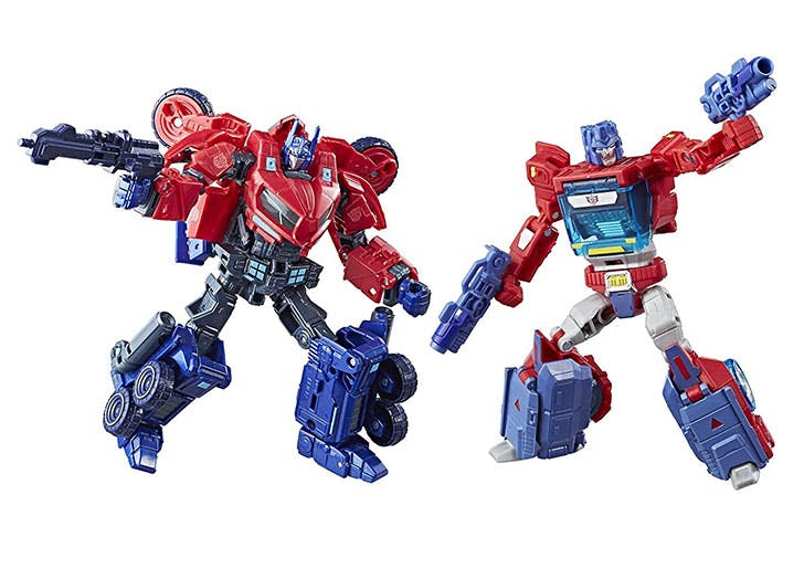 Transformers Deluxe Class Optimus Prime Autobot Legacy 2 Pack