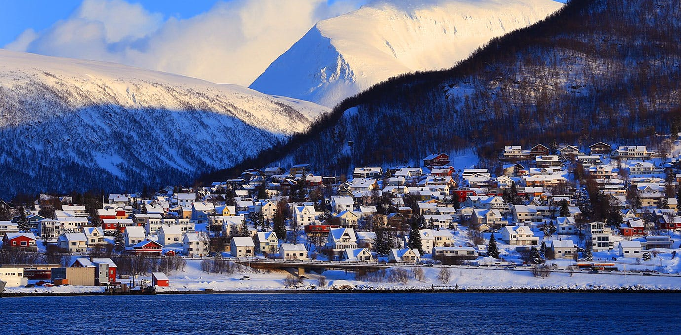 Tromso Norway Cityscape in winter1