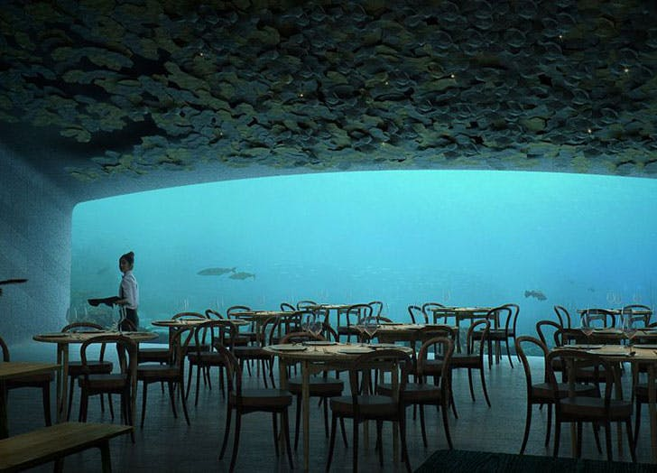 Underwater restaurant opening in Norway