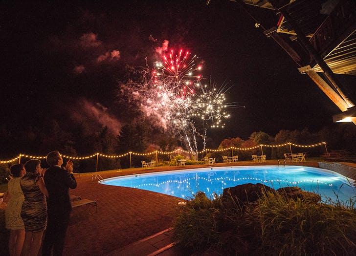 VT Wedding Fireworks 1