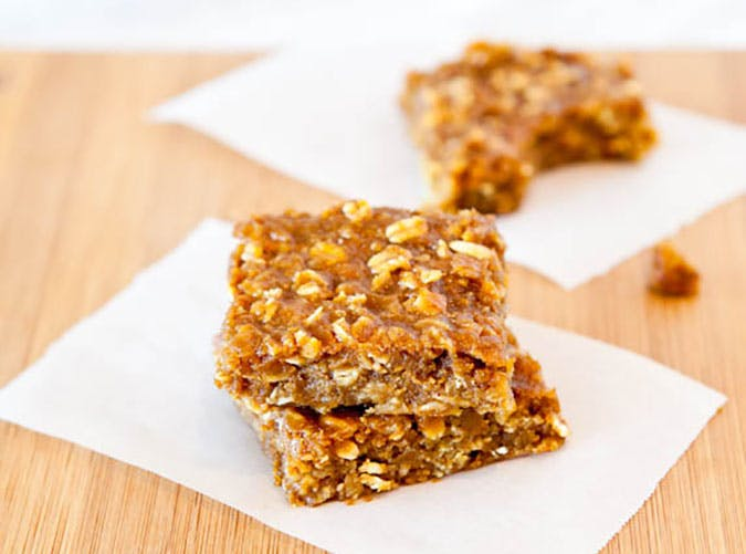 Vegan Pumpkin Peanut Butter Oatmeal Bars