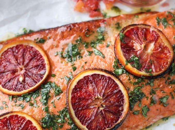 Winter Citrus Butter Salmon november meal ideas