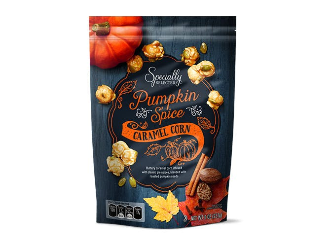aldi pumpkin spice popcorn SLIDE