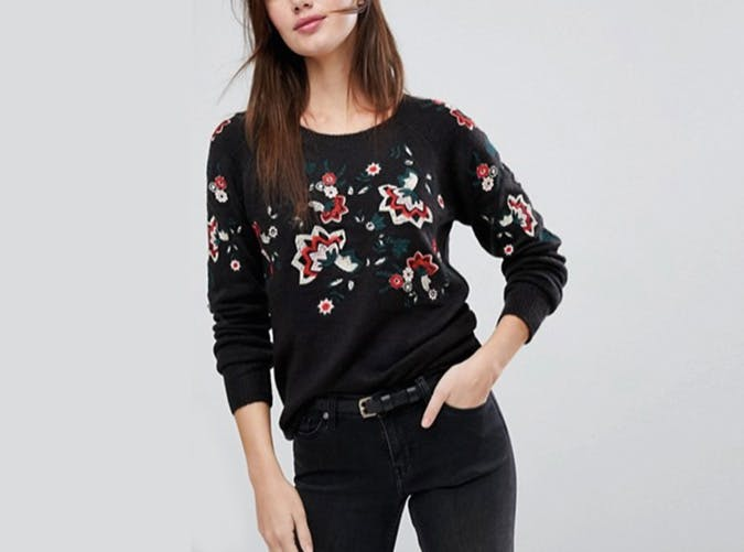 asos floral sweater  29