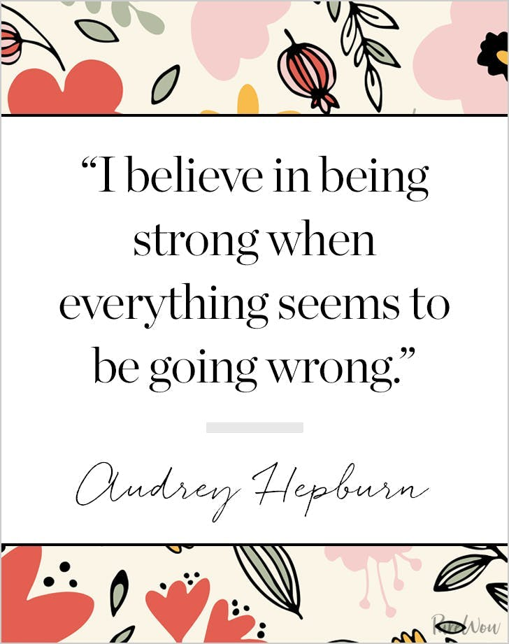 best audrey hepburn quotes being strong