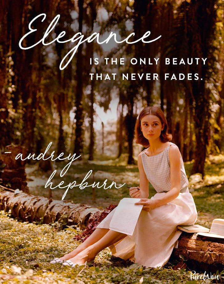 best audrey hepburn quotes elegance