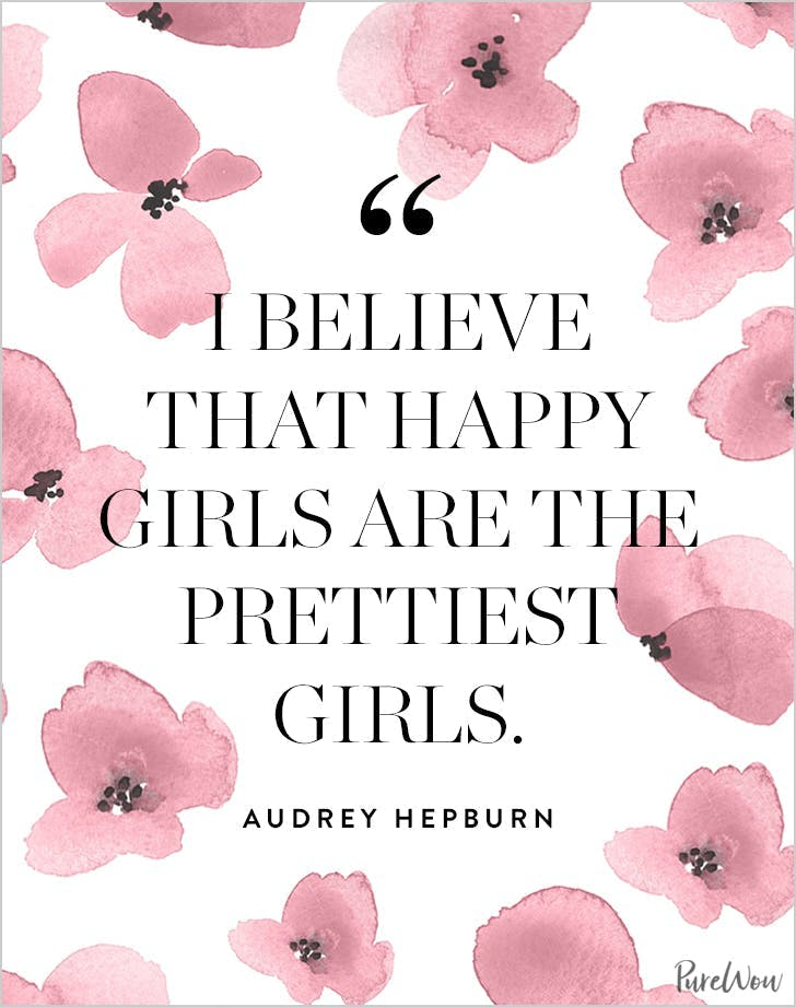 best audrey hepburn quotes happy girls