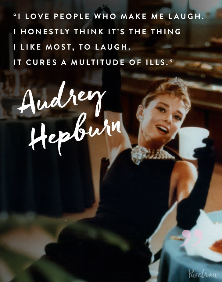 best audrey hepburn quotes laugh