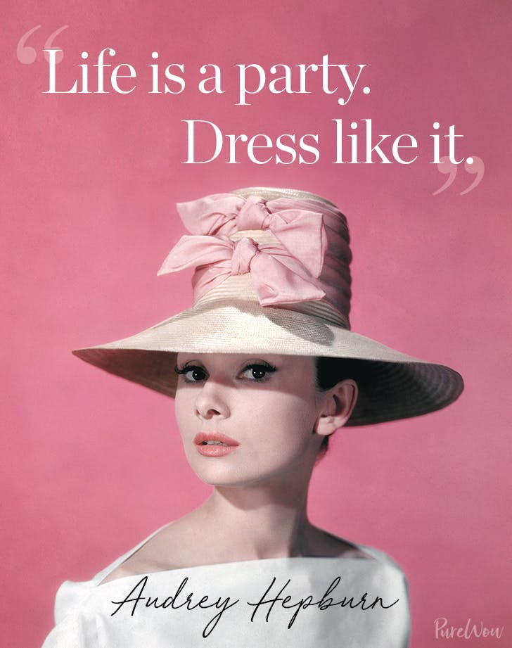 best audrey hepburn quotes life is a party