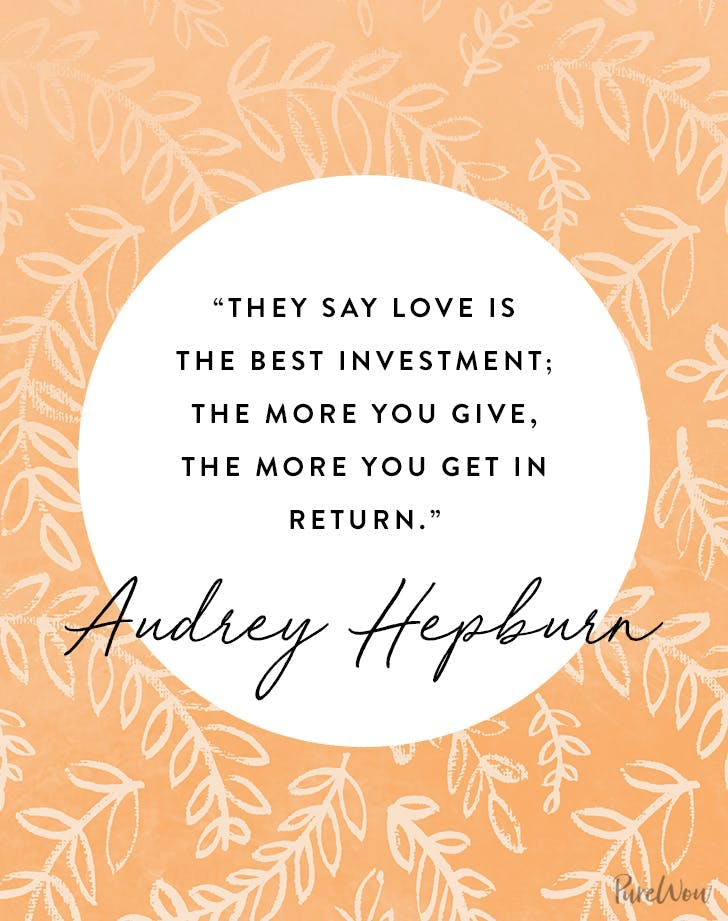 best audrey hepburn quotes love